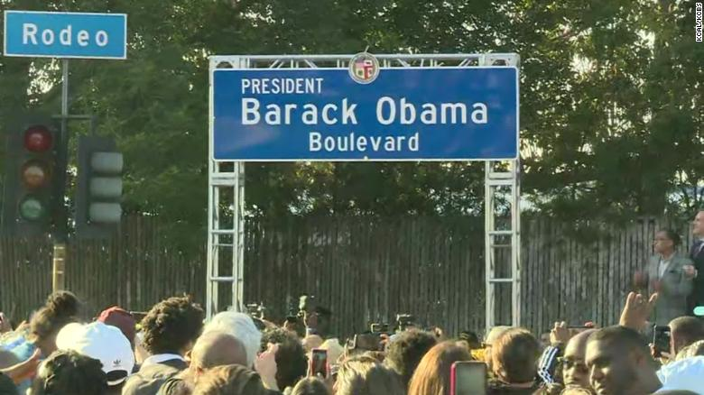 In honor of former President Obama, stretch of road is renamed Obama Boulevard, Mindy's Yummy Sauces, West Bloomfield, Michigan